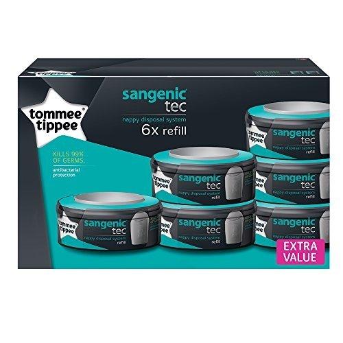 tommee-tippee-82037504-sangenic-tec-ricarica-bianco-6-pezzi