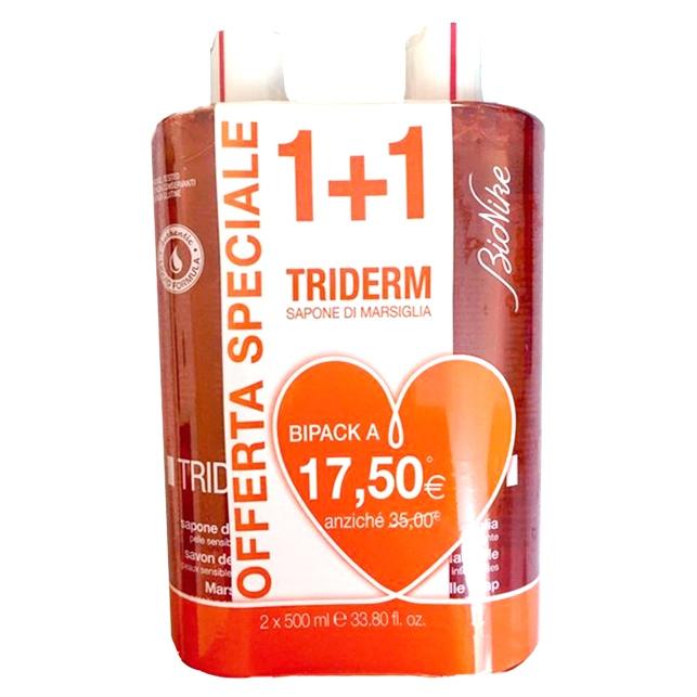 Triderm Sapone di Marsiglia Liquido pacco doppio 2x500ml - FarmaEtnea f8d7d60d4ab
